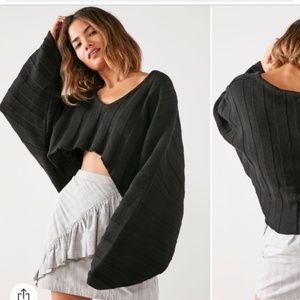 OU Silence + Noise Slouchy Ribbed High/Low Sweater